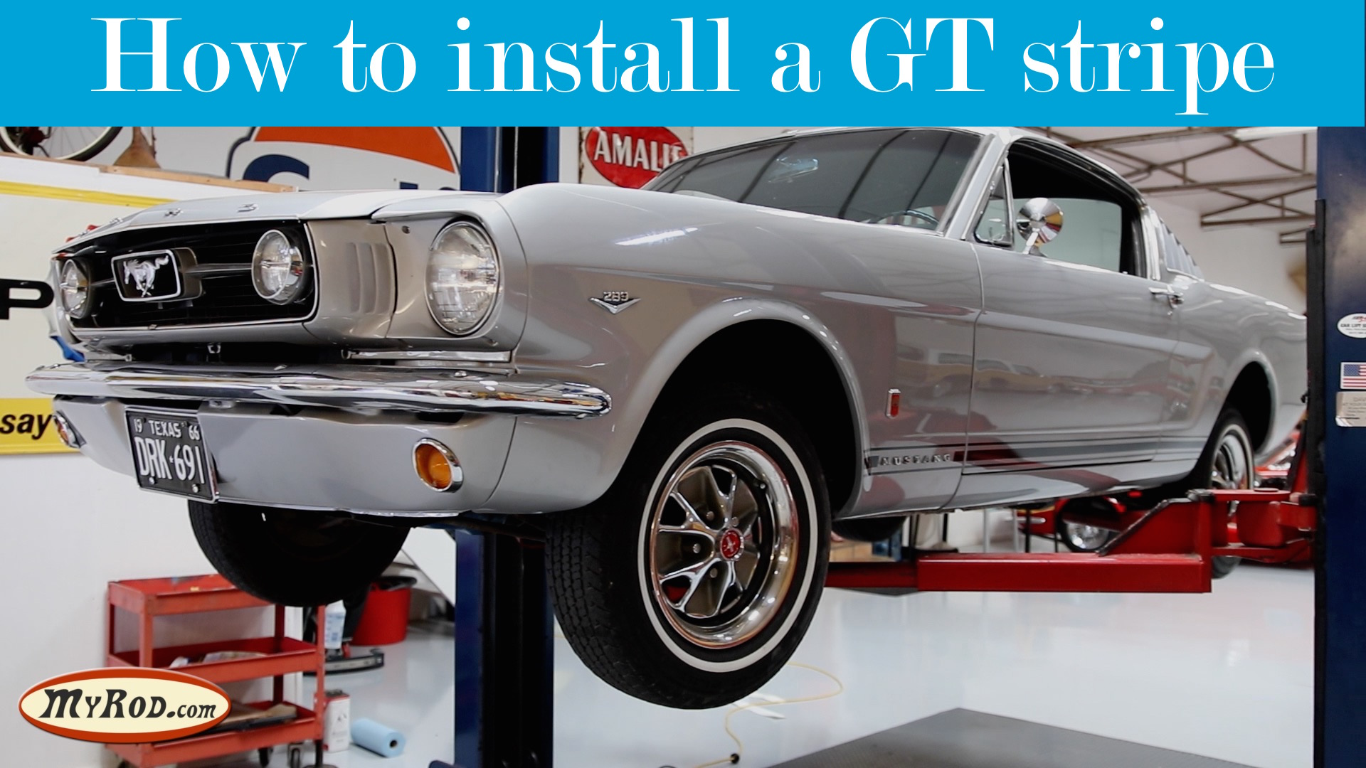 How to install a GT Mustang stripe
