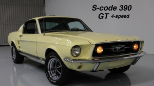 1967 Mustang GT S-code 390 Fastback Yellow