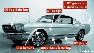 how to identify a real GT Mustang 1965 - 1966