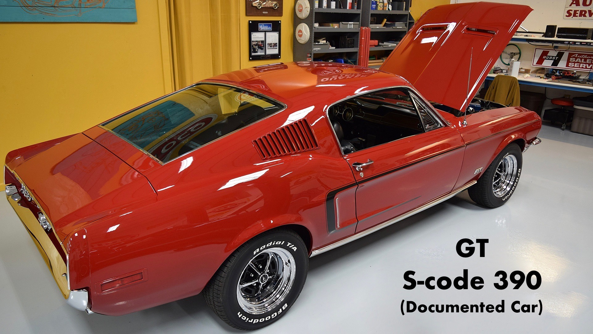 1968 Mustang Fastback GT 390 S-code – DOCUMENTED
