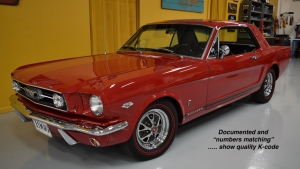 1966 Mustang K code GT Hi Po Candy Apple Red for sale