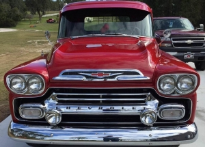1959 Apache Truck Deluxe V8 short bed Red and Black