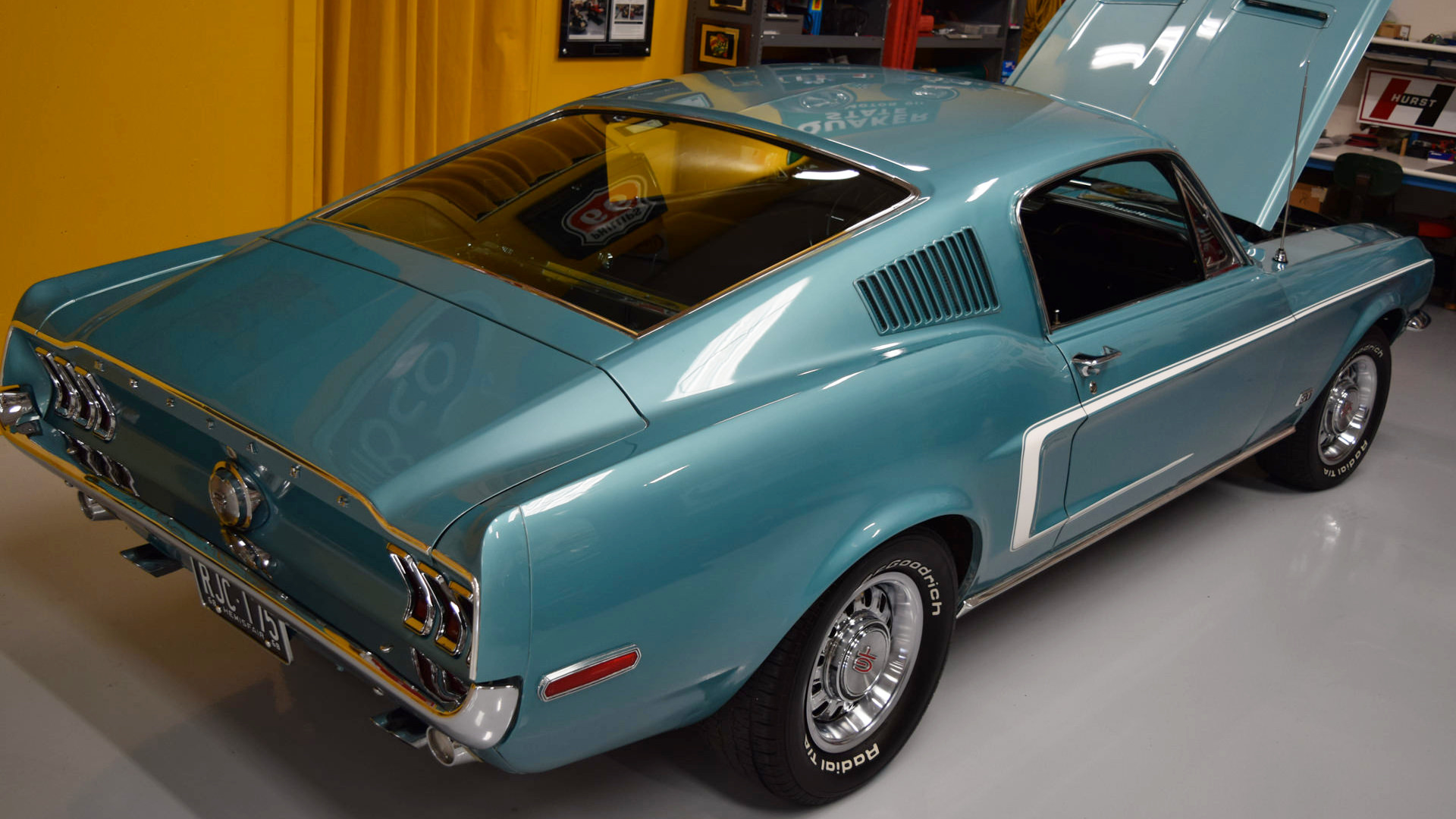 1968 mustang gt fastback tahoe turquoise for sale. Black Bedroom Furniture Sets. Home Design Ideas