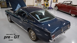 1965 Mustang Fastback Caspian Blue GT Options