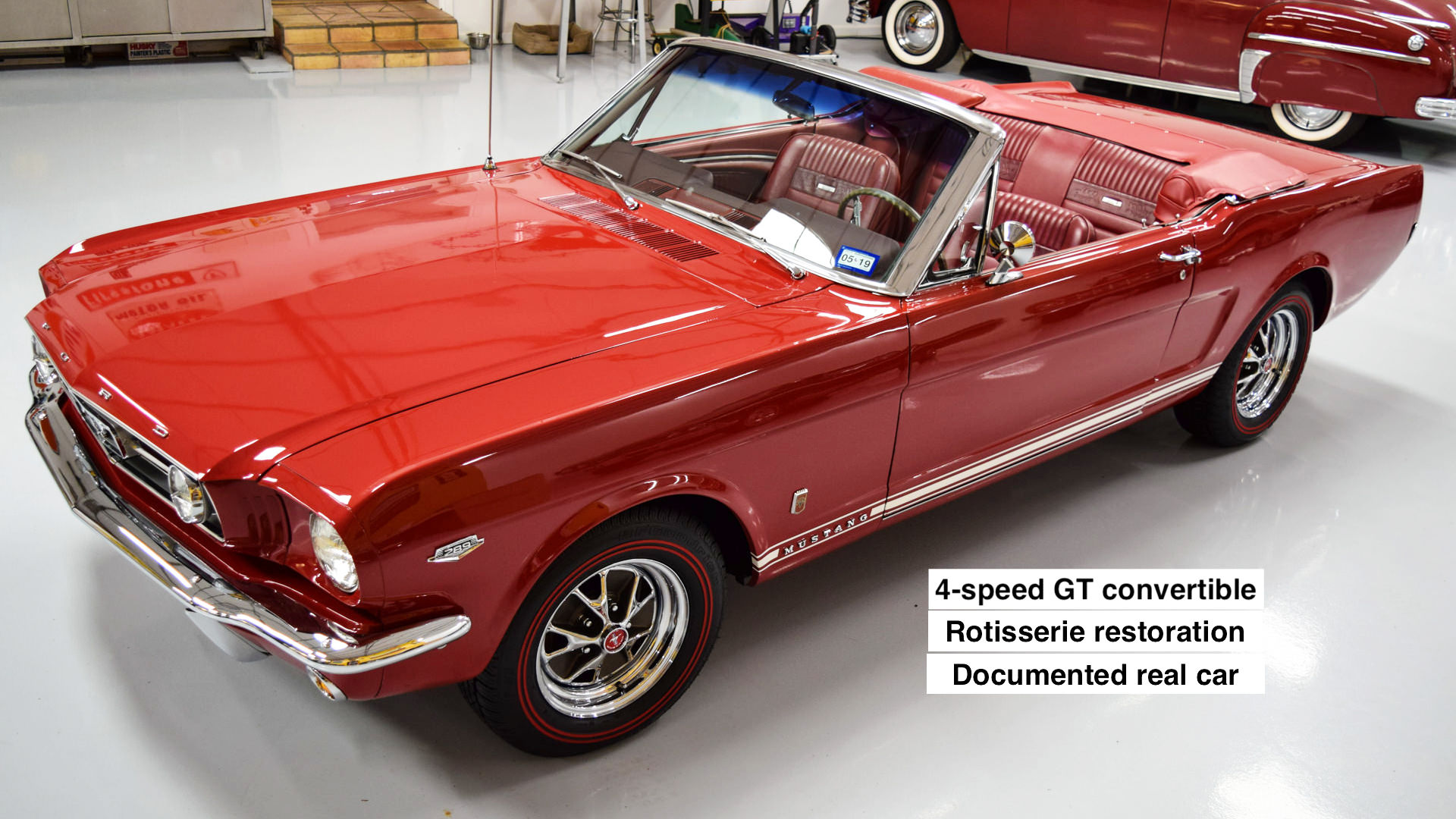 1966 Mustang GT convertible Candy Apple Red A-code