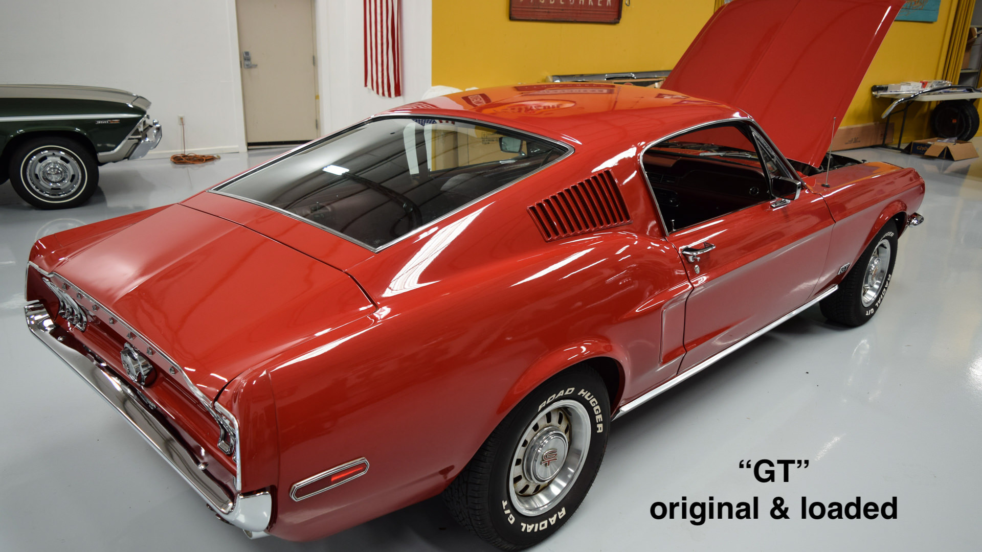 1968 Mustang fastback GT Candy Apple Red J code-23
