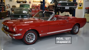 1966 Mustang GT Convertible Candy Apple Red