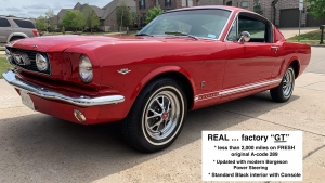 1966 Mustang GT Fastback Candy Apple Red