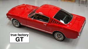 1966 Mustang fastback GT Candy Apple Red
