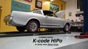 1966 Mustang K-code HiPo Silver Frost fastback GT
