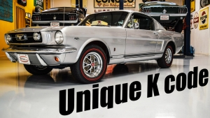 1966 K code Mustang Fastback Silver Frost