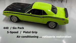 73 Cuda 440 Six Pack Sublime Green Pistol Grip