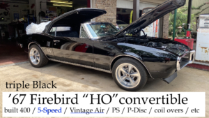 1967 Firebird HO Convertible Restomod -01