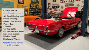 1968 Mustang Convertible Red