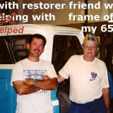 Michael and Roger with 1965 Chevy Truck