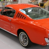 1965 Mustang Fastback rear Poppy Red