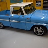 Blue 1965 Chevy Truck restomod
