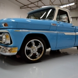 65 Chevy Truck restomod blue and white