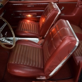 1966 Ford Fairlane GT red bucket seats