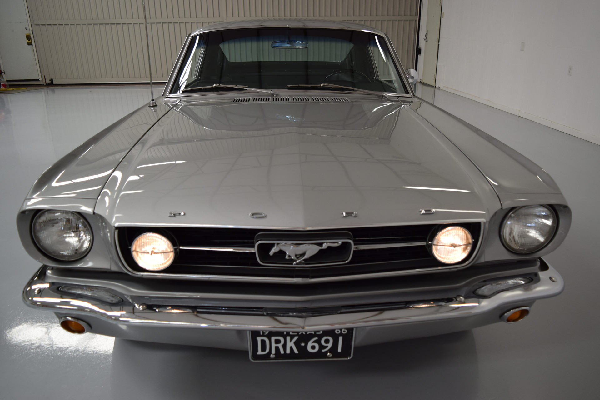 1966 Mustang GT Fastback | MyRod com - RARE factory Silver Frost GT!