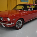 1966 Mustang K code Hi Po Candy Apple Red coupe for sale