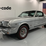 1966 Mustang K code GT fastback Silver Frost -1