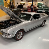1966 Mustang K code GT fastback Silver Frost -10