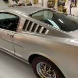 1966 Mustang K code GT fastback Silver Frost -27