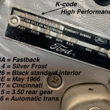 1966 Mustang K code GT fastback Silver Frost -44