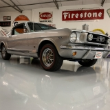 1966 Mustang K code GT fastback Silver Frost -5
