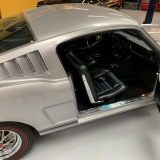 1966 Mustang K code GT fastback Silver Frost -55