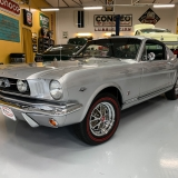 1966 Mustang K code GT fastback Silver Frost -64