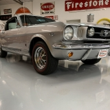 1966 Mustang K code GT fastback Silver Frost -65