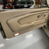 1966 Mustang convertible Sauterne Gold 289 Pony interior Concours -10