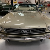 1966 Mustang convertible Sauterne Gold 289 Pony interior Concours -14
