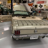 1966 Mustang convertible Sauterne Gold 289 Pony interior Concours -15