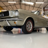 1966 Mustang convertible Sauterne Gold 289 Pony interior Concours -16