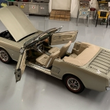 1966 Mustang convertible Sauterne Gold 289 Pony interior Concours -2