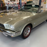 1966 Mustang convertible Sauterne Gold 289 Pony interior Concours -35