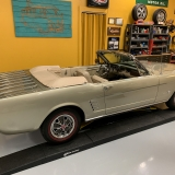 1966 Mustang convertible Sauterne Gold 289 Pony interior Concours -4