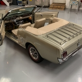 1966 Mustang convertible Sauterne Gold 289 Pony interior Concours -41