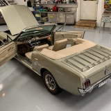 1966 Mustang convertible Sauterne Gold 289 Pony interior Concours -42