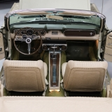 1966 Mustang convertible Sauterne Gold 289 Pony interior Concours -43