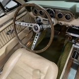 1966 Mustang convertible Sauterne Gold 289 Pony interior Concours -44
