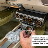 1966 Mustang convertible Sauterne Gold 289 Pony interior Concours -45