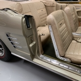 1966 Mustang convertible Sauterne Gold 289 Pony interior Concours -47