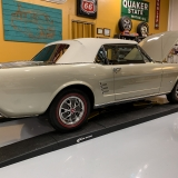 1966 Mustang convertible Sauterne Gold 289 Pony interior Concours -5