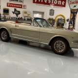 1966 Mustang convertible Sauterne Gold 289 Pony interior Concours -52