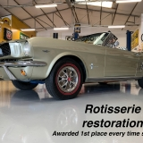 1966 Mustang convertible Sauterne Gold 289 Pony interior Concours -53