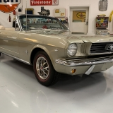 1966 Mustang convertible Sauterne Gold 289 Pony interior Concours -54